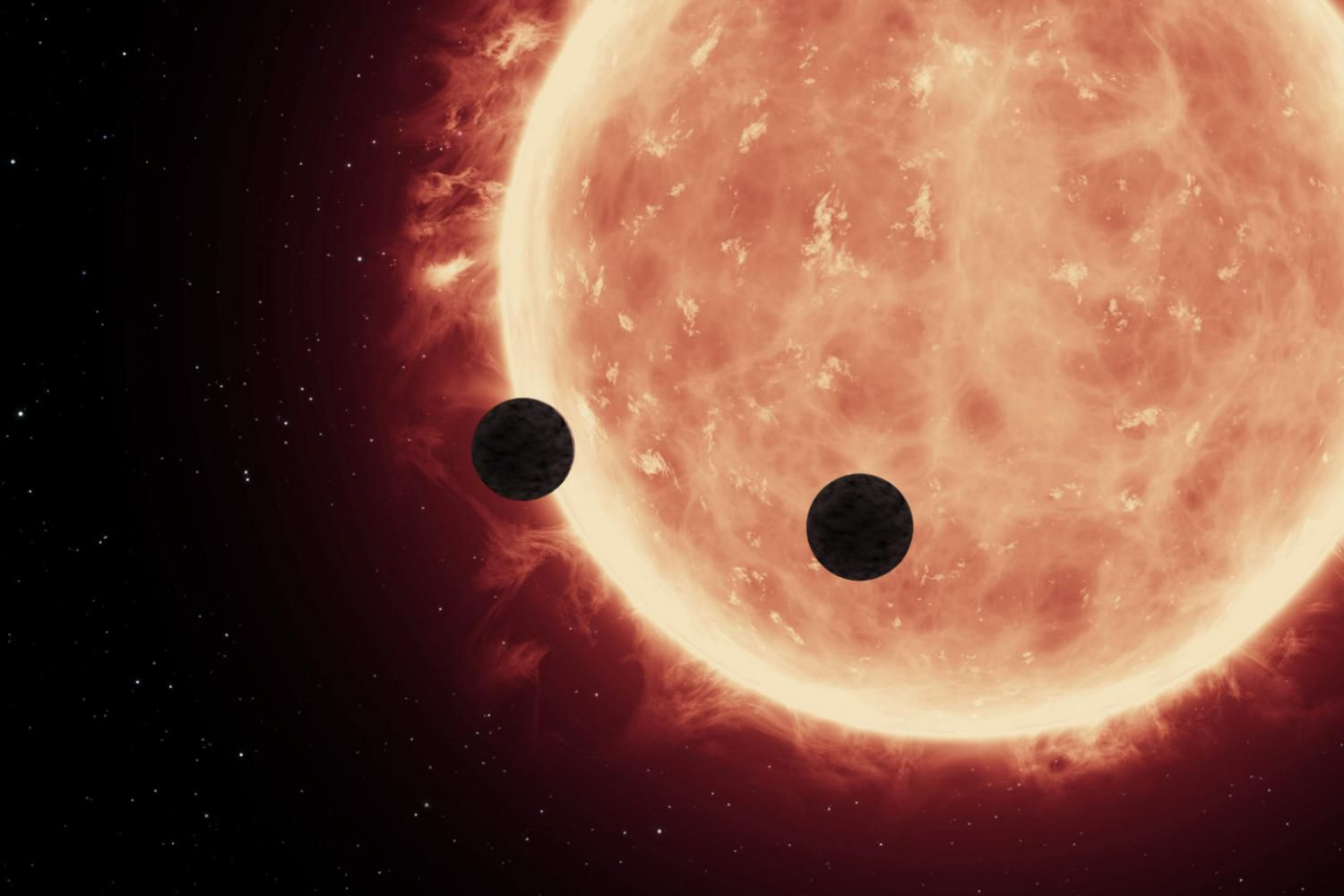 Red dwarf star size